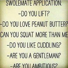 Application forms - Swole Mates  lol!