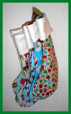 Button Fayre fleece topped Christmas stockings
