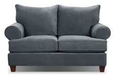 Paige Microsuede Loveseat - Grey | The Brick