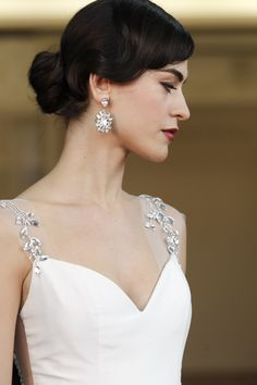 We Love These Sophisticated Wedding Hairstyles Sexy Wedding Dresses, Wedding Dress Styles, Bridesmaid Dresses, Sophisticated Wedding, Timeless Wedding, Bridal Updo, Bridal Gowns, Mod Wedding, Wedding Gifts
