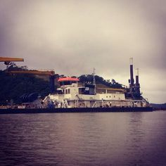 This morning, in the Panama Canal!