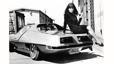 American actress Stefanie Powers as April Dancer in the US television series, 'The Girl from U.N.C.L.E.', circa 1967. She is sitting on the specially customized AMT Piranha car featured in the series. (Photo by Silver Screen Collection/Getty Images)