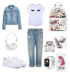 """""""Funky style"""" by laura-stefanica on Polyvore featuring Anya Hindmarch, J Brand, adidas, Chicnova Fashion, H&M, Frends, Miss Selfridge, Burberry and Gucci"""