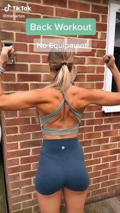 Back Workout Women, Back Fat Workout, Fitness Workout For Women, Butt Workout, Back Workout Challenge, Home Back Workout, Underarm Workout, Shoulder Workout Women, Treadmill Walking Workout