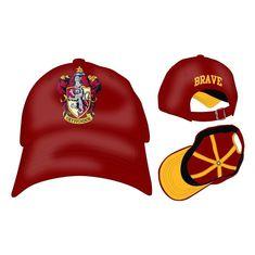 406516bad651c BRAVE House Gryffindor Curved Bill Cap Hat HARRY POTTER Trait Quality Crest   Bioworld  BaseballCapDadHat