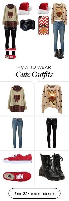 """best friend outfit( 2 in one)8/15"" by owlbirdy on Polyvore featuring Frame Denim, Paige Denim and Vans"