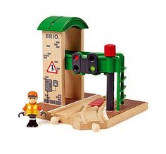 Aspiring young conductors can put the finishing touches on their toy train set with this signal station. Includes station and W x H x DWood / plasticRecommended for ages 3 years and upImportedCHOKING HAZARD: Small parts. Not for children under 3 years