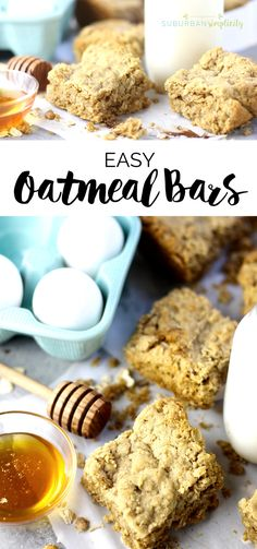 Try this recipe for delicious and easy oatmeal bars your whole family will love! It works great as breakfast or a midday snack! Delicious! #oatmeal #easyrecipe via @https://www.pinterest.com/Erin_Simplicity/