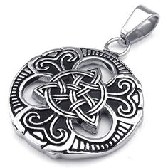 "KONOV Jewelry Mens Womens Celtic Knot Stainless Steel Pendant Necklace, Black Silver, 18"" inch Chain KONOV Jewelry http://www.amazon.com/dp/B00LEA3PCA/ref=cm_sw_r_pi_dp_ok6rwb0QZAF8M"