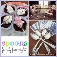 Spoons family fun night...all the fun you could possibly have with a set of kitchen spoons.