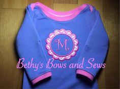 Custom Layette Baby Gown Set on Etsy, $55.00