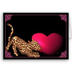 Leopard Heart template card   by valxart.com for $3.00 See Valxart leopard board at pinterest.com/valxart/
