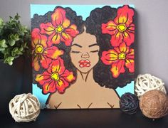 Makes me want to start drawing again. Black Art Painting, Painting & Drawing, Bee Painting, Black Girl Art, Guache, Hippie Art, Afro Art, African American Art, Cool Paintings