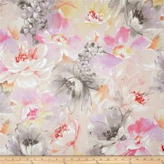 Michael Miller Spring Fling Bokashi Bouquet Confection from @fabricdotcom  From Michael Miller, this cotton print is perfect for quilting, apparel and home decor accents.  Colors include white, cream, lavender, shades of grey and shades of pink.