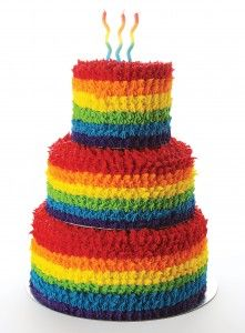If you're organising a circus party for your little one, a rainbow cake will complement the theme perfectly. Linda Lipschitz, owner of Belle's Patisserie in Johannesburg, shares an easy recipe. Rainbow Birthday Party, Rainbow Wedding, Circus Birthday, Birthday Treats, Circus Party, 1st Birthday Parties, Birthday Cakes, 2nd Birthday, Bible Cake