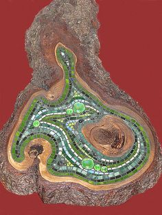 Green swirl mosaic | this one is about 30 inches overall len… | Flickr
