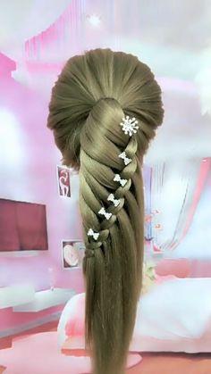 Hairdo For Long Hair, Easy Hairstyles For Long Hair, Curly Hair, Short Hair, Braided Hairstyles Tutorials, Diy Hairstyles, Wedding Hairstyles, Front Hair Styles, Medium Hair Styles