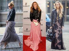 Resultado de imagem para vestido longo jaqueta de couro