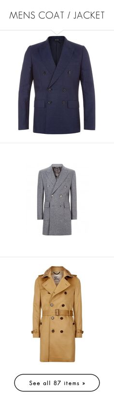 """""""MENS COAT / JACKET"""" by lorense ❤ liked on Polyvore featuring men's fashion, men's clothing, men's sportcoats, mens one button blazer, mens blazer jacket, mens apparel, slim fit mens clothing, mens double breasted blazer, men и men's outerwear"""