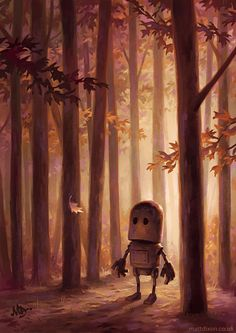My Lonely Robots Experiencing The Quiet Wonder Of The World | Bored Panda