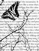 Memory Box - Open Studio Cling Stamp - Butterfly Journal