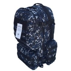 """22"""" 4300cu.in. Tactical Hunting Camping Hiking Backpack OP822 DMBK DIGITAL CAMOUFLAGE. Perfect for outdoor use!. DIGITAL CAMOUFLAGE (DMBK - Navy Blue). Capacity: 4300 cu. in. Size: 22""""(Height) x 17""""(Width) x 11""""(Depth). Multiple MOLLE style straps, Laptop carrying pouch in main compartment."""