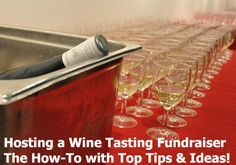 The Wine Tasting Fundraiser is a super cool fundraising event that has successfully used for years. Learn how to plan, organize, and run a successful Wine Tasting Event: www.rewarding-fundraising-ideas.com/hosting-a-wine-tasting-fundraiser.html  (Photo by Nick Webb / Flickr)