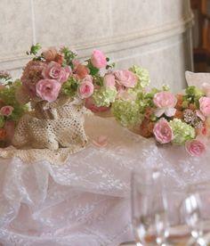 春から初夏へ シェ松尾天王洲倶楽部様の装花 : 一会 ウエディングの花