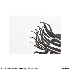 Black Tentacles Door Mat