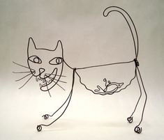 'Favourite Food' - Continuous line drawing of a cat. Love it! Great fun.