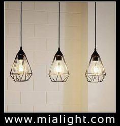 Design Balises  accrocher Rétro Shabby Cuivre Lampe suspension