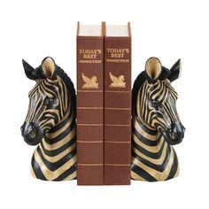 Sterling Industries 93-1220 Pair Zebra Bookends