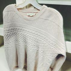 Staring at Stars (Urban) cozy cableknit sweater! #NLT #thrift #thrifty #thriftfinds #thriftfashion #thriftstore #fall #fashion #fallfashion #sweaters #cableknit #cozy #style #trendy #staringatstars #urban #urbanoutfitters #uo #lookforless