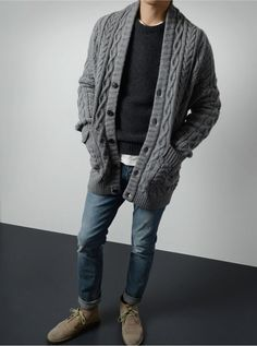 Fall Winter Men's Fashion Knit Sweater
