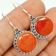 Brown Sun Star 925 Sterling Silver Earrings Jewelry BRSE87