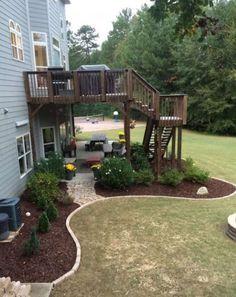 elevated multi level deck ideas