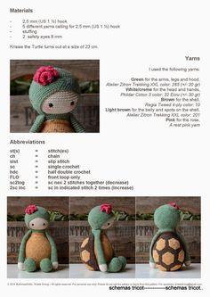 Turtle crochet pattern - Free
