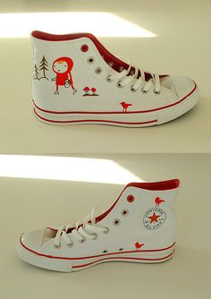 Little Red converse by Camilla Engman