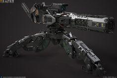 Space Ship Concept Art, Robot Concept Art, Armor Concept, Weapon Concept Art, Futuristic Armour, Futuristic Art, Futuristic Technology, Sci Fi Weapons, Fantasy Weapons