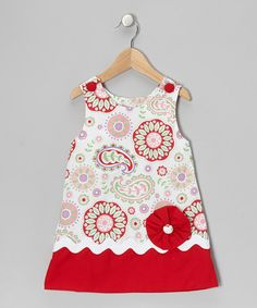 Take a look at this Red Paisley Jumper - Infant, Toddler & Girls by Stellybelly on #zulily today!