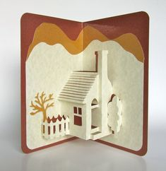 Pop-Up Card Home Décor Origamic Architecture Handmade in Ivory and Earth Tones of Shimmery Brown and Mustard Sand OOAK Home Pop-Up Card Home Décor Origamic Architecture by BoldFoldsHome Pop-Up Card Home Décor Origamic Architecture by BoldFolds Pop Up Art, Arte Pop Up, Kirigami, Architecture Origami, Architecture Geometric, Paper Pop, Up Book, Handmade Home Decor, Handmade Cards