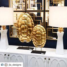 #Repost @jla_designs with @repostapp. ・・・ 🐢🐢 love them!  #jladesigns #worldsaway #gold #accents #decor #inspiration #interiors #design #turtles #metallics #glamour #home #nynow #homeinspo