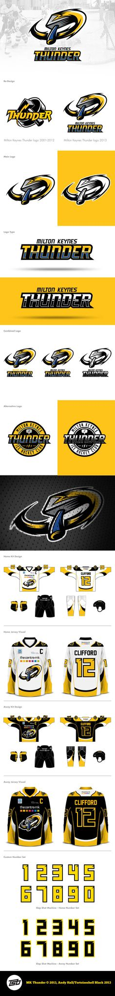 DFC Milton Keynes Thunder on Behance - American Logo Sport Theme