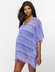 9123c699c03 A Pea in the Pod Short Sleeve Caftan Maternity Kimono Pretty Pregnant