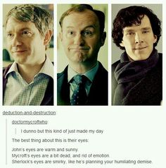 Mycroft's eyes are not dead not at all