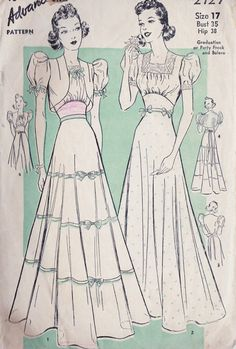 1930s Misses Party Dress or Gown