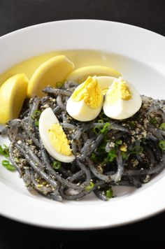 Squid Ink noodles, pasta, or risotto