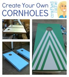 { DIY Cornholes }  Create your own beanbag boards!