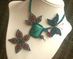Cleopatras Secret Floral Butterfly Macrame by GlobalGypsyJewelry, $190.00