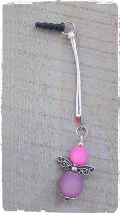 Mobielhanger polaris engel roze